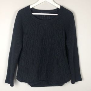 Quinn Black Knit Cashmere Sweater - Size Medium